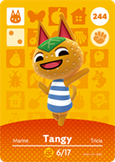 Amiibo Cards Animal Crossing Series 3 Tangy
