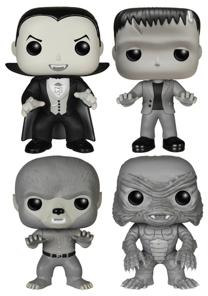 Funko Pop! Movies Universal Monsters (4-Pack) - B&W