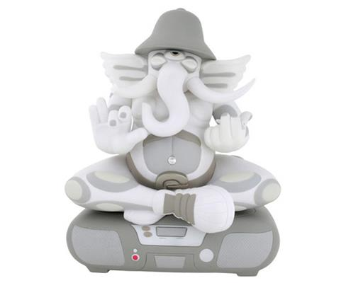 Kid Robot Art Figures White Ganesh Stock