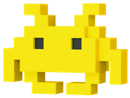 Funko Pop! 8-Bit Medium Invader (Yellow)