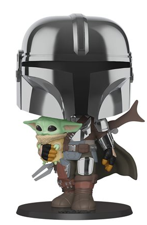 "Funko Pop! Star Wars The Mandalorian (Chrome) (10"")"