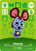 Amiibo Cards Animal Crossing Series 2 Moose