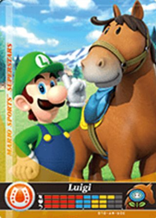 Amiibo Cards Mario Sports Superstars Luigi - Horse Racing Icon