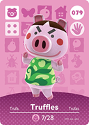 Amiibo Cards Animal Crossing Series 1 Truffles