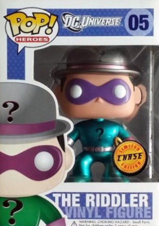 Funko Pop! Heroes The Riddler (Metallic) - CHASE Stock