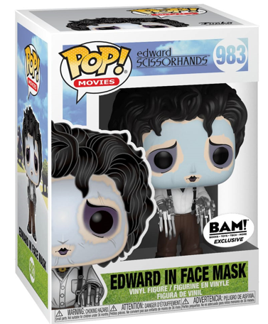 Funko Pop! Movies Edward in Face Mask Stock