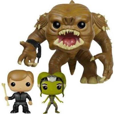 Funko Pop! Star Wars Rancor, Luke Skywalker & Oola (3-Pack)