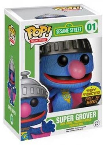 Funko Pop! Sesame Street Super Grover (First to Market) Stock