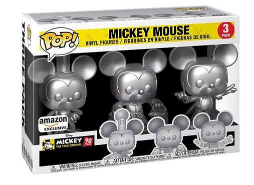 Funko Pop! Disney Mickey Mouse Metallic 3 Pack Stock