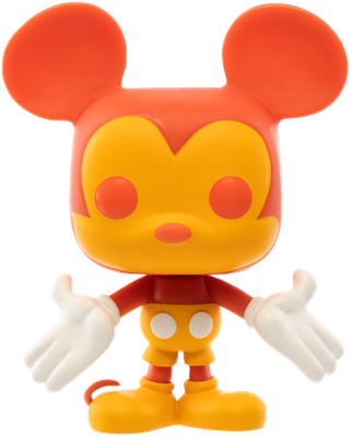 Funko Pop! Disney Mickey Mouse (Colorway - Orange/Red)