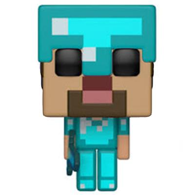 Funko Pop! Games Steve in Diamond Armor Icon