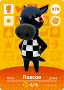 Amiibo Cards Animal Crossing Series 1 Roscoe