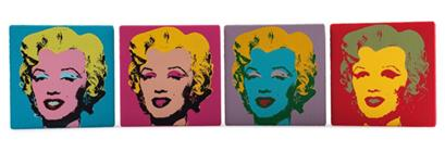 Kid Robot Blind Boxes Andy Warhol Collectible Art Marilyn Canvases