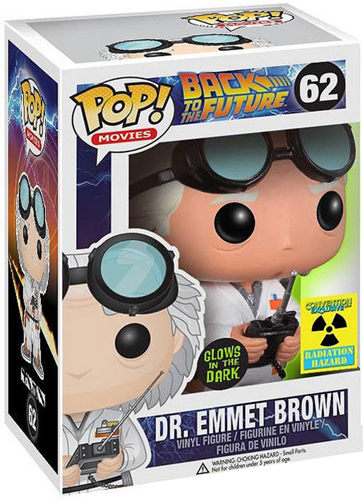 Funko Pop! Movies Dr. Emmett Brown (Glow) Stock