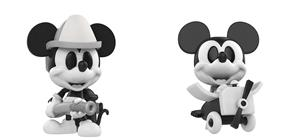 Funko Pop! Disney Mickey Mouse Black and White (2-Pack)