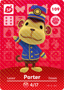 Amiibo Cards Animal Crossing Series 2 Porter