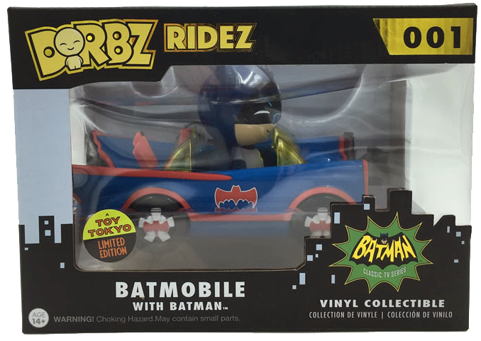 Dorbz Dorbz Ridez Batman (w/ Blue Batmobile) Stock