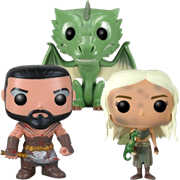 Funko Pop! Game of Thrones Khal, Khaleesi & Rhaegal
