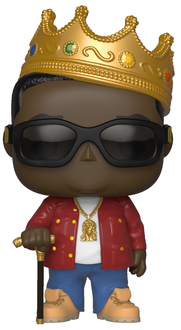 Funko Pop! Rocks Notorious B.I.G. (w/ Crown) + Sunglasses