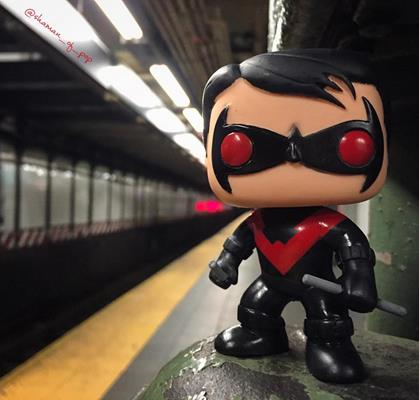 Funko Pop! Heroes Nightwing (Red) shaman_of_pop on instagram.com