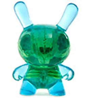 Kid Robot Special Edition Dunny Blue & Green Infected Icon