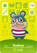 Amiibo Cards Animal Crossing Series 2 Rodney
