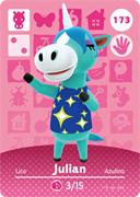 Amiibo Cards Animal Crossing Series 2 Julian