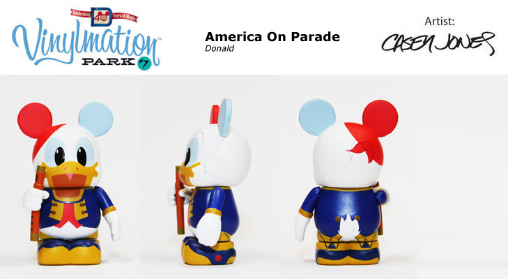 Vinylmation Open And Misc Park 7 America on Parade: Donald