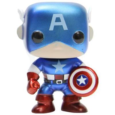 Funko Pop! Marvel Captain America (Metallic)