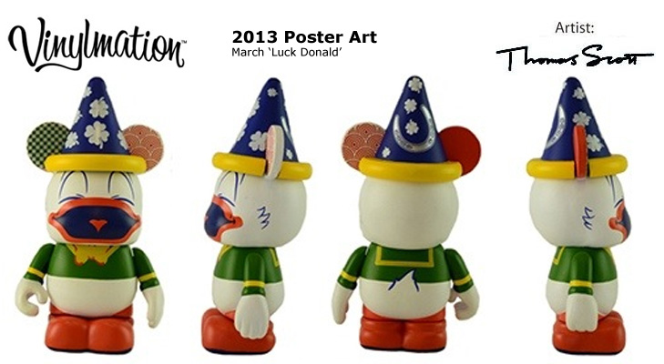 Vinylmation Open And Misc 2013 Poster Art March 'Lucky Donald'