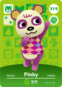 Amiibo Cards Animal Crossing Series 4 Pinky
