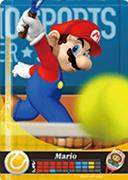 Amiibo Cards Mario Sports Superstars Mario - Tennis