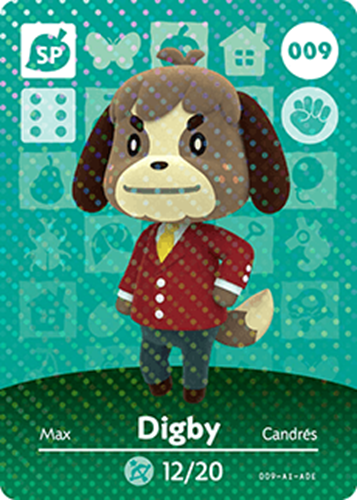 Amiibo Cards Animal Crossing Series 1 Digby Icon