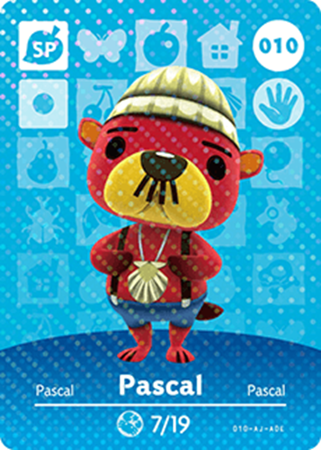Amiibo Cards Animal Crossing Series 1 Pascal