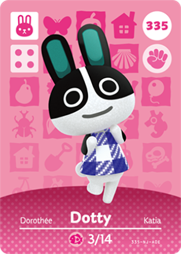 Amiibo Cards Animal Crossing Series 4 Dotty