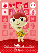 Amiibo Cards Animal Crossing Series 2 Felicity