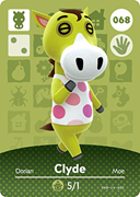 Amiibo Cards Animal Crossing Series 1 Clyde