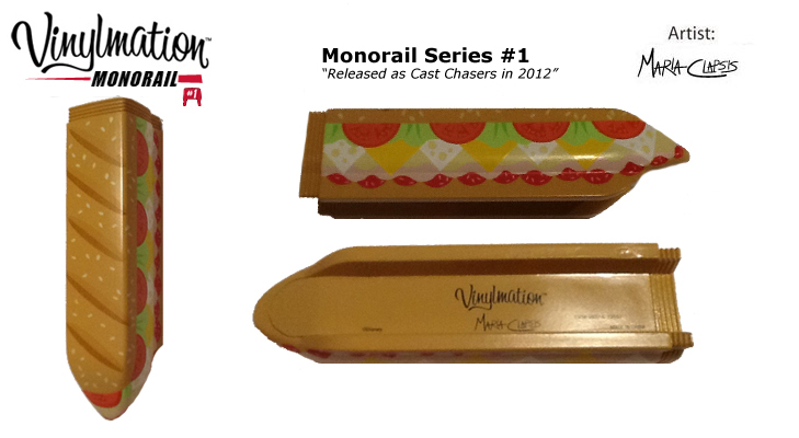 Vinylmation Open And Misc Monorail 1 Sub 'cast chaser'
