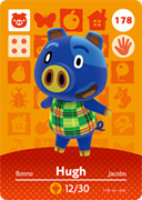 Amiibo Cards Animal Crossing Series 2 Hugh