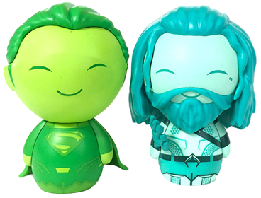 Dorbz DC Comics Superman (Green) & Aquaman (Blue)