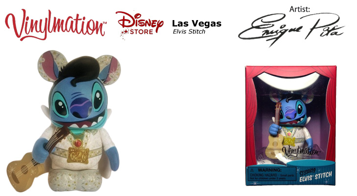 Vinylmation Open And Misc Exclusives Elvis Stitch - Las Vegas