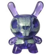 Kid Robot Special Edition Dunny Purple: Green Skeleton Infected
