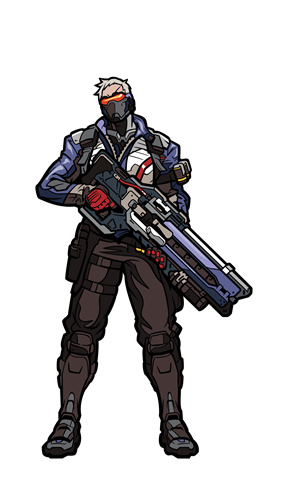 FiGPin Overwatch Soldier: 76 Icon