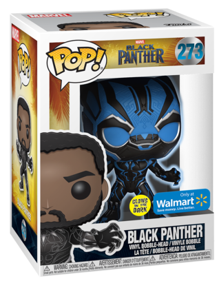 Funko Pop! Marvel Black Panther (Glow) - Blue Stock
