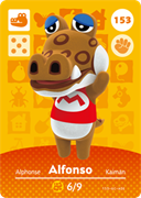 Amiibo Cards Animal Crossing Series 2 Alfonso