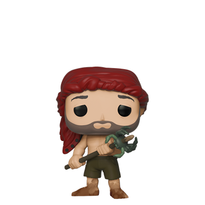 Funko Pop! Movies Chuck holding a spear w/ crab Icon
