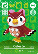Amiibo Cards Animal Crossing Series 4 Celeste