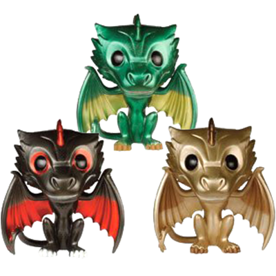 Funko Pop! Game of Thrones Drogon, Rhaegal & Viserion (Metallic)