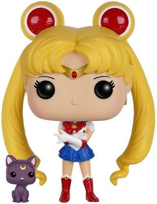 Funko Pop! Animation Sailor Moon (w/ Luna) - Glitter