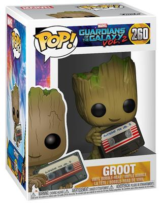 Funko Pop! Marvel Groot (w/ Mixtape) Stock